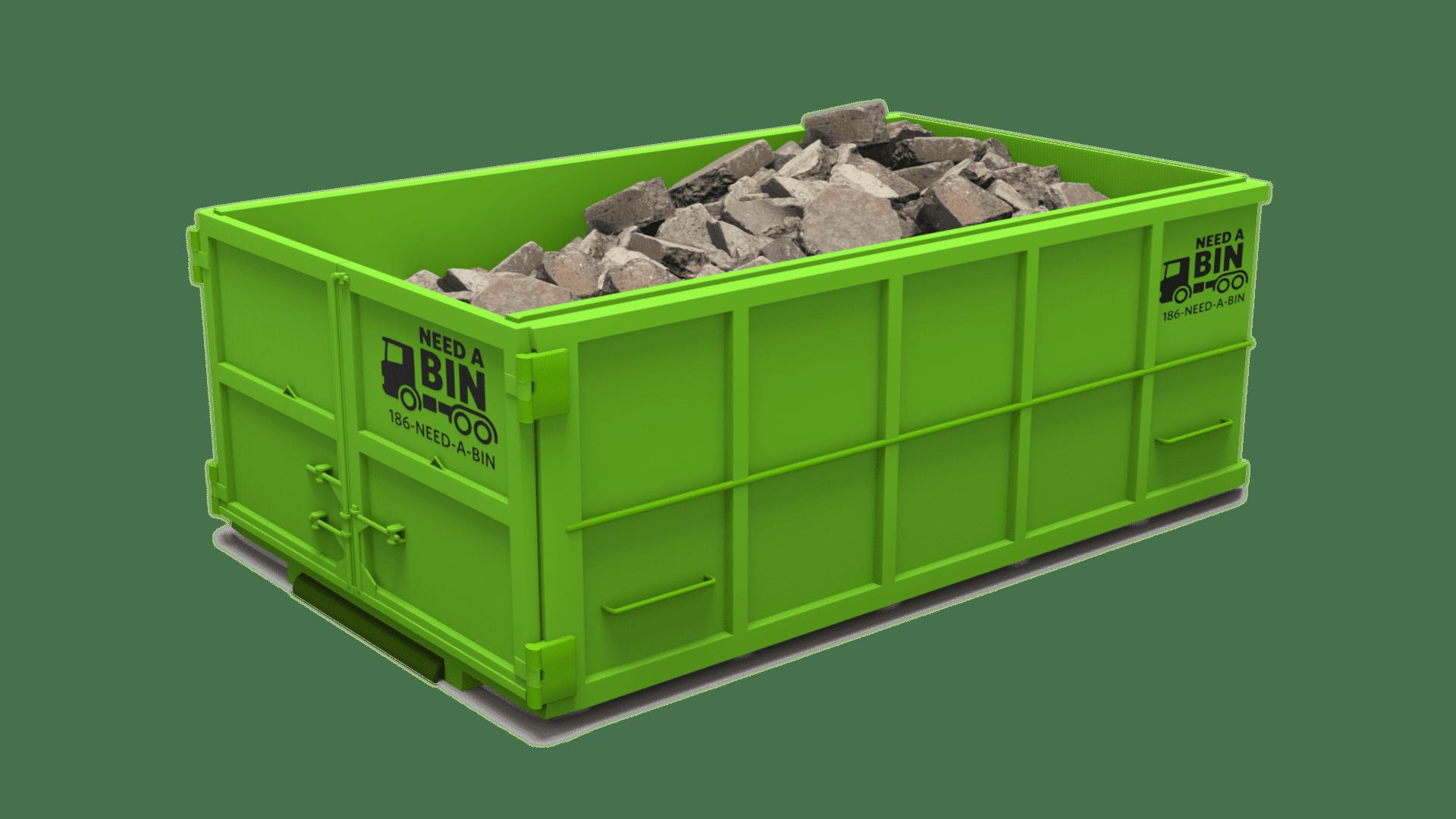 14 Yard Disposal Bin Concrete
